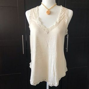 Calypso St. Barth Linen & Lace Tank Top - NWT